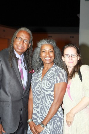 Professor Melvin Ross and Bridgete Duncan  Viking Newspaper from Long Beach College